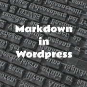 Markdown in Wordpress Reference